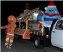 parade float with gingerbread man