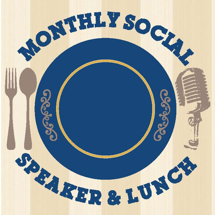 Monthly Speaker and Social Logo