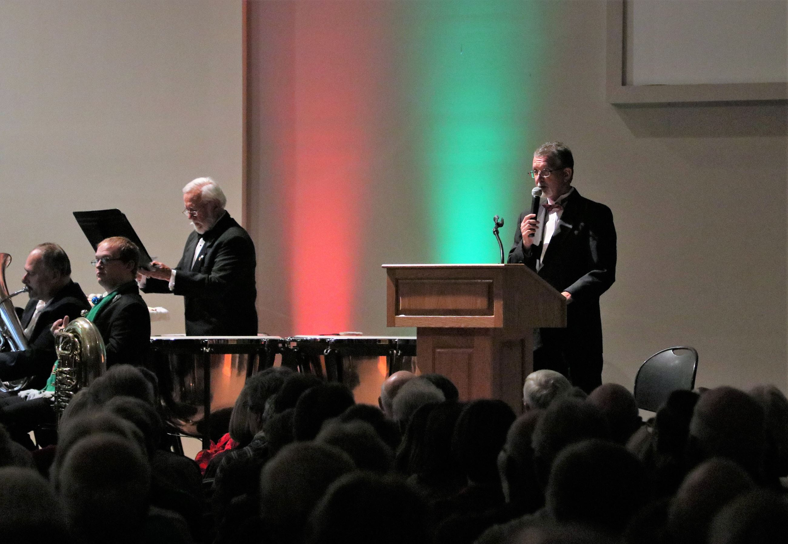 photo of Baldwin Pops performing a Christmas concert