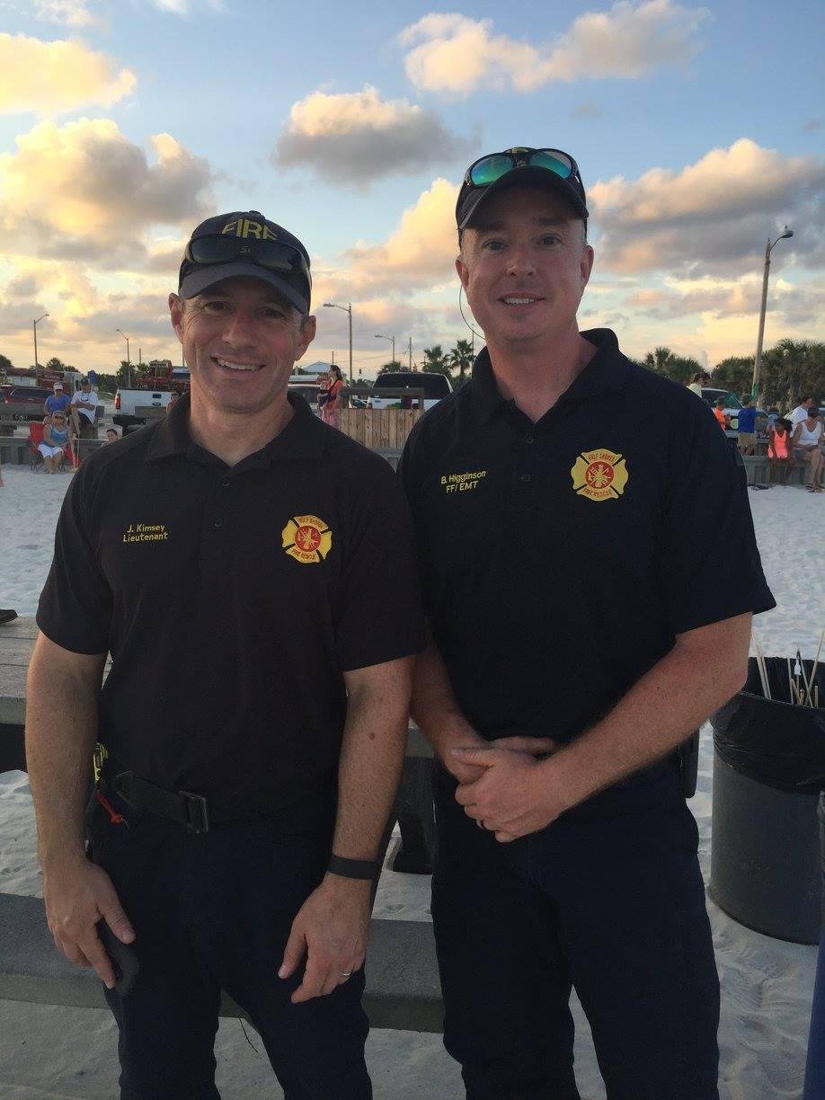 firefighters smiling