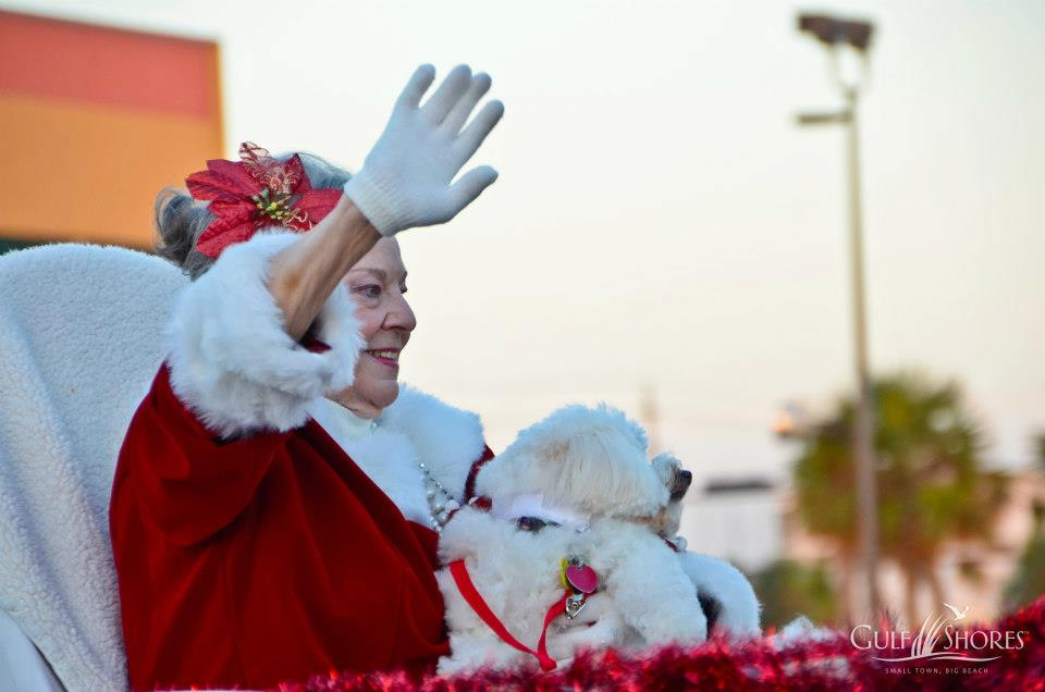 mrs claus in the parade