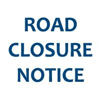 "Newsflash Button for Website  - ""Road Closure Notice"" text"