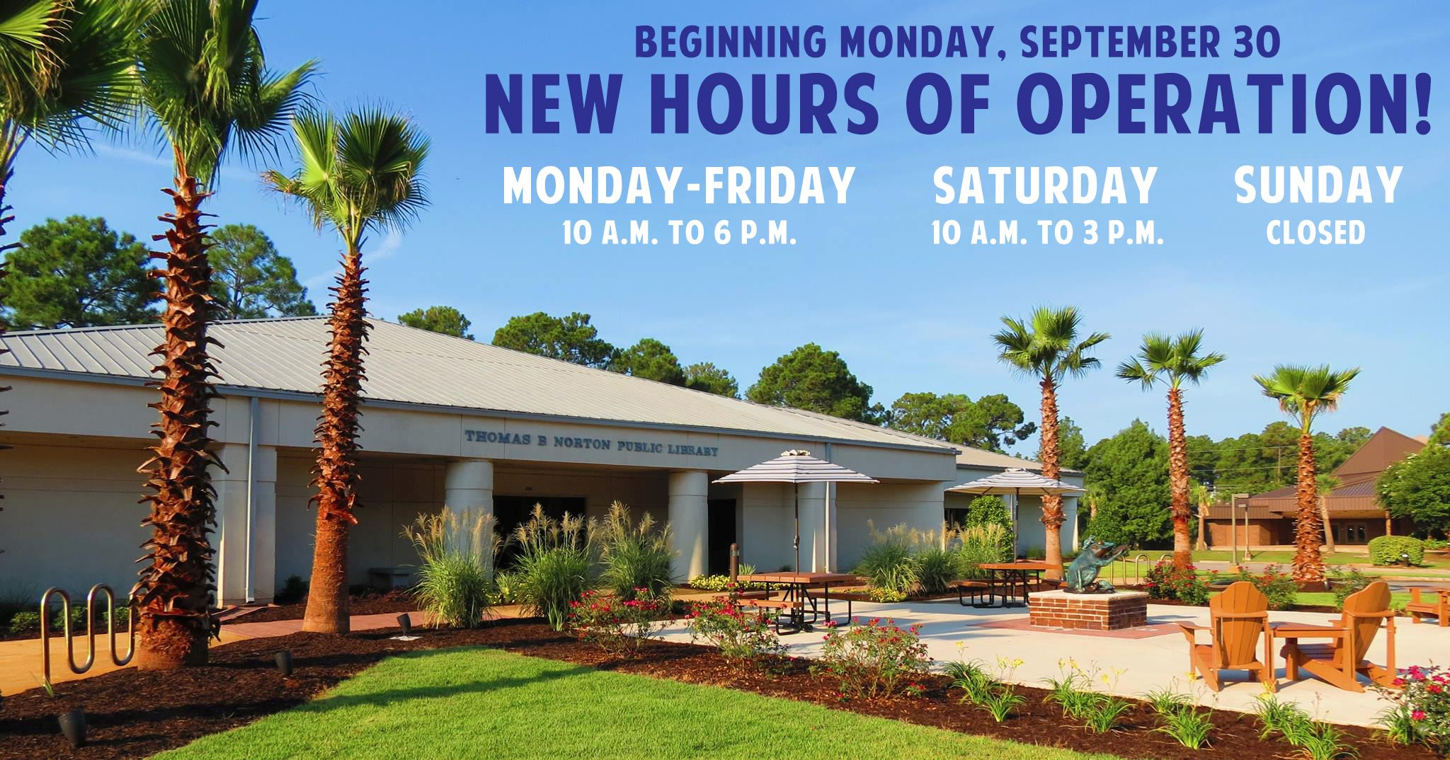 Picture of Gulf Shores Library with New Hours