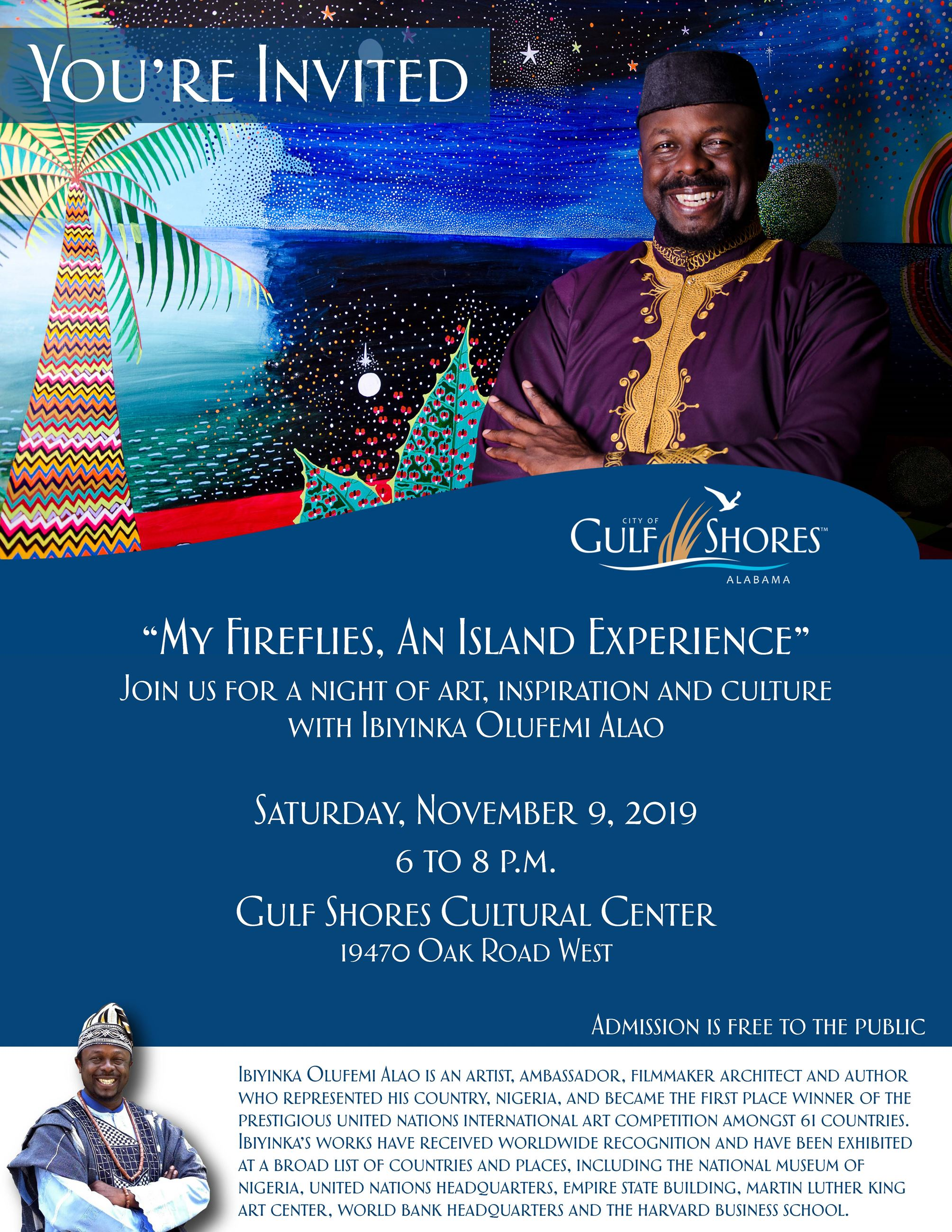 Ibiyinka Alao - Cultural Center Event Invitation