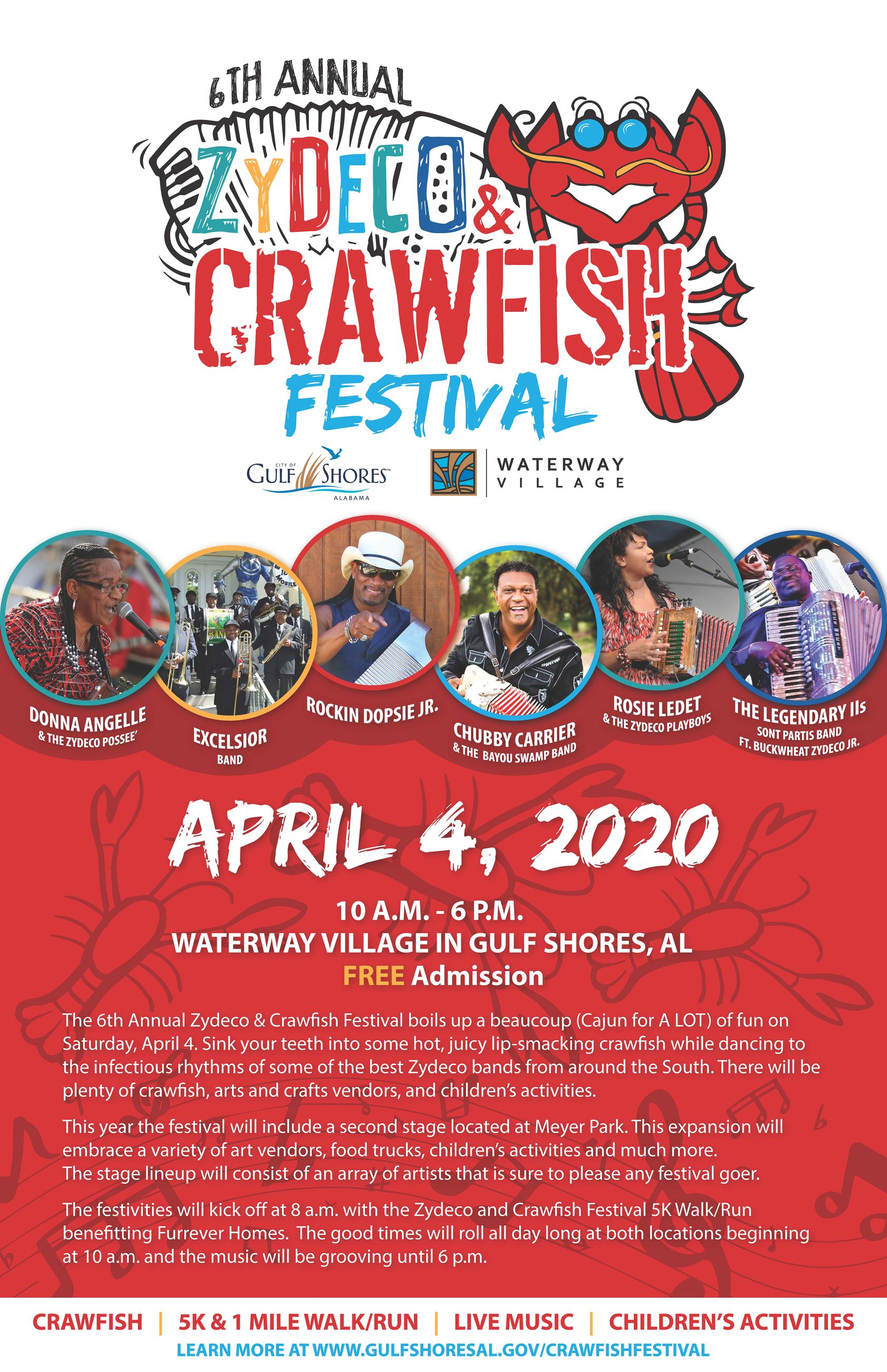 Zydeco Crawfish Festival Poster