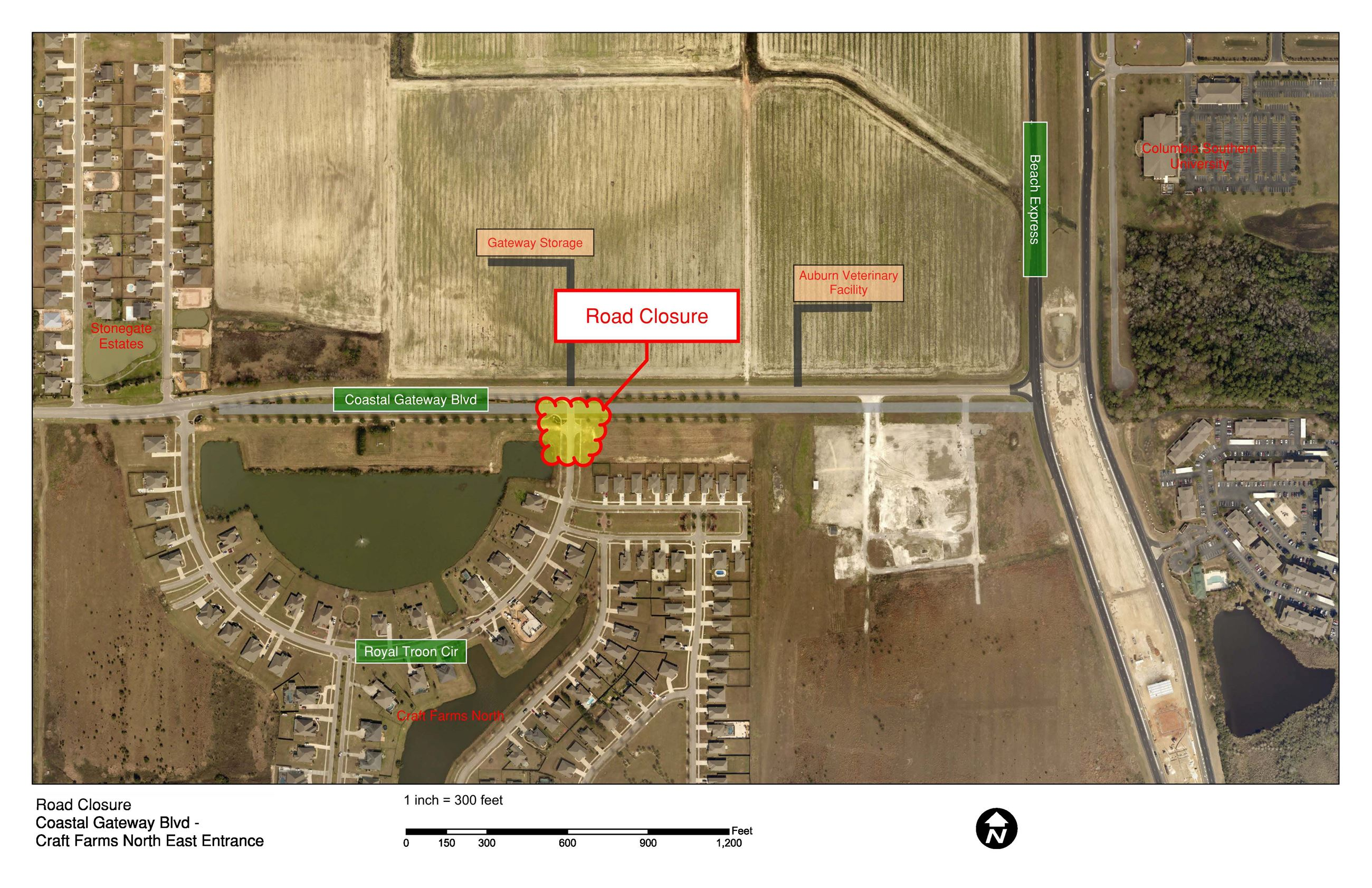 CFN-CGB East Entrance Road Closure - 03-25